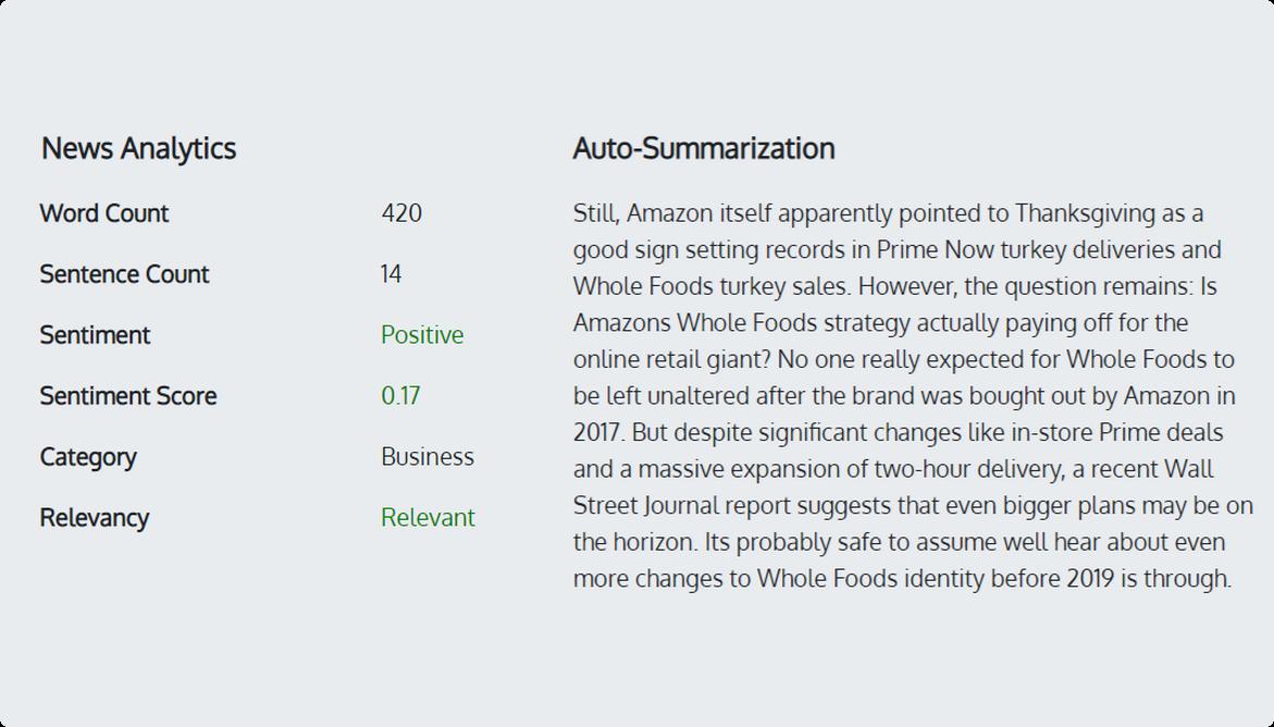 Artemis + Auto-Summarization