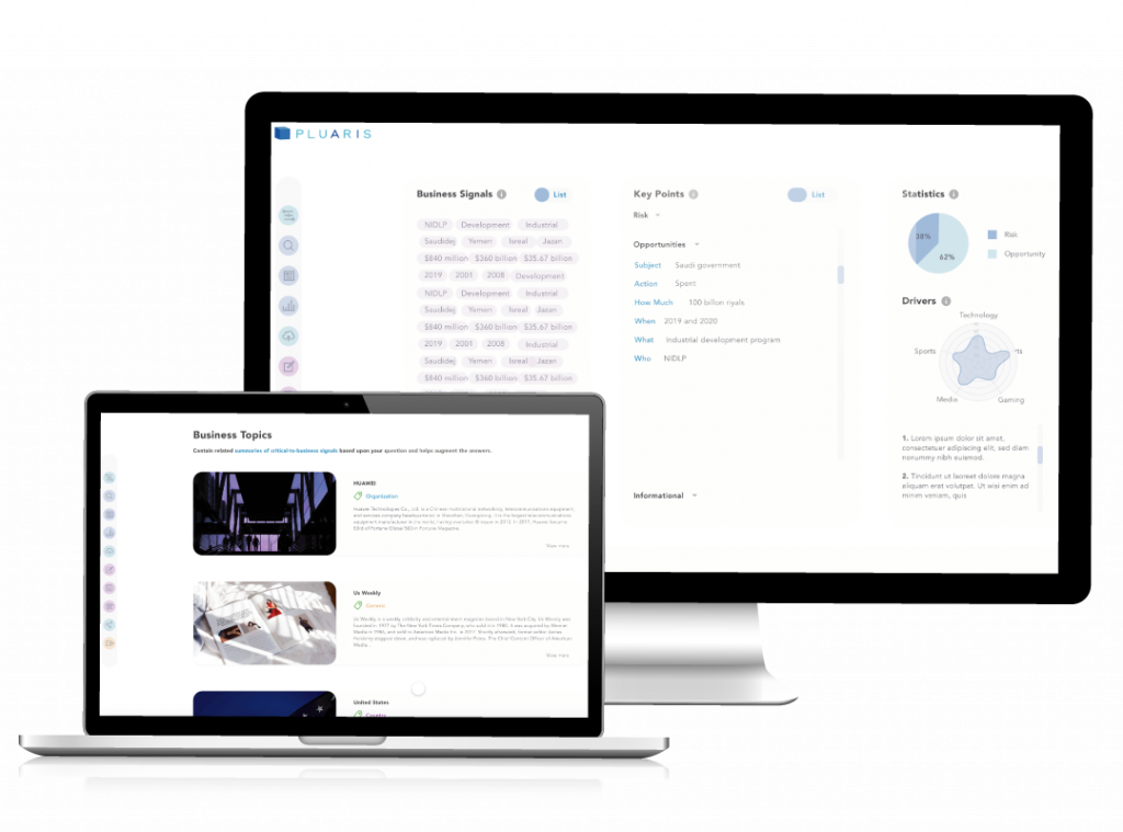 AI software, Pluaris, used for knowledge management