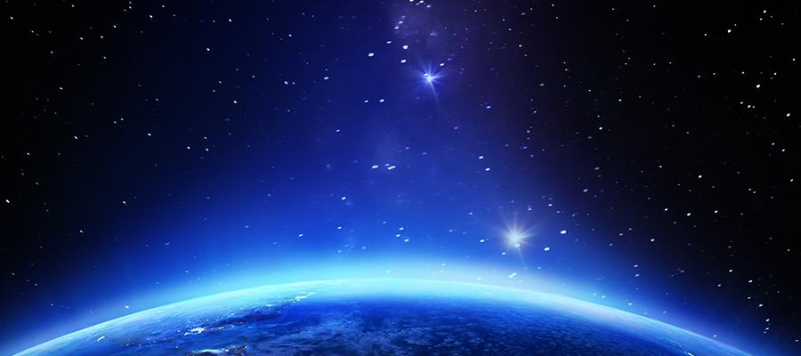 Blue horizon background image