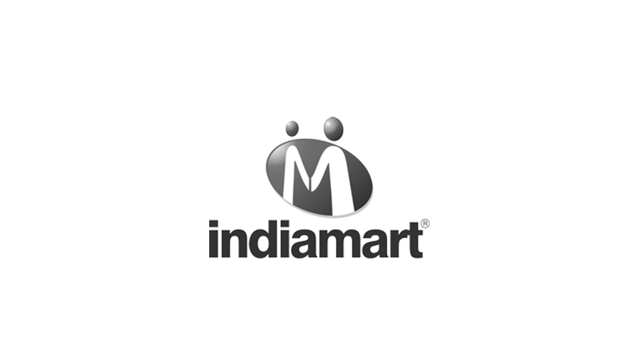 India Mart black and white logo